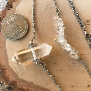 Silverskylight Jewelry - Genuine double point crystal and quartz chips